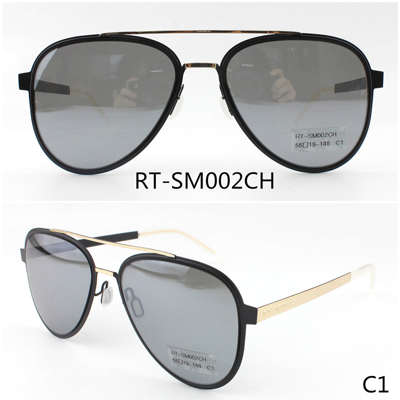 RT-SM002YY 56-19-148 Sunglasses Material:Metal & Polarized/Nylon lens